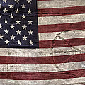 Grungy Textured Usa Peace Sign Flag by John Stephens