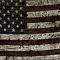 Grungy Wooden Textured Usa Flag2 by John Stephens