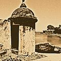 Guard Post Castillo San Felipe Del Morro San Juan Puerto Rico Rustic by Shawn O'Brien