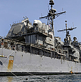 Guided Missile Cruiser Uss Bunker Hill by Stocktrek Images