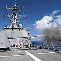 Guided-missile Destroyer Uss Pinckney by Stocktrek Images