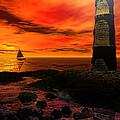 Guiding Light - Lighthouse Art by Lourry Legarde