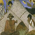 Gypsy Encampment by Otto Muller or Mueller