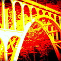 Haceta Head Bridge In Abstract by Kathy Sampson