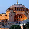 Hagia Sophia At Dusk by Artur Bogacki