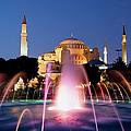 Hagia Sophia At Night by Artur Bogacki
