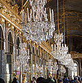 Hall Of Mirrors At Palace Of Versailles France by Jon Berghoff