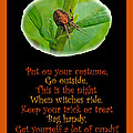 Halloween Card - Spider And Poem by Mother Nature