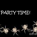 Halloween Greetings. Spider Party Series #01 by Ausra Huntington nee Paulauskaite
