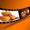 Halloween Pumpkin Film Strip by Amanda Elwell