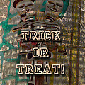 Halloween Trick Or Treat Skeleton Greeting Card by Mother Nature
