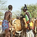 Hamer Tribe Jumping Of The Bulls Ceremony by Photostock-israel