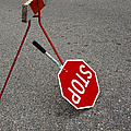Handheld Stop Sign by Marlene Ford