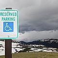 Handicap Parking Sign At A National Park by Bryan Mullennix