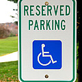 Handicapped Parking Sign by Photo Researchers