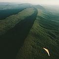 Hang Glider Over Massanutten Mountain by Skip Brown