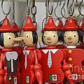 Hanging Pinocchios Puppets by Sami Sarkis