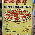 Happy Angkor Pizza Sign by Mark Sellers