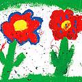 Happy Colorful Flowers by Gaspar Avila