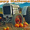 Happy Halloween Card by Randy Harris