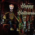 Happy Halloween Skeleton Greeting Card by Mother Nature