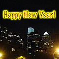 Happy New Year Greeting Card - Philadelphia At Night by Mother Nature