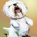 Happy Westie by Catia Lee