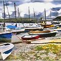 Harbor Boats by Tom Schmidt