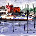 Harbor Fishing Boats by Chriss Pagani