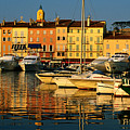 Harbour Boats And Waterfront Houses, St Tropez, Provence-alpes-cote D'azur, France, Europe by David Tomlinson