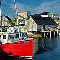 Harbour Mist In Peggy's Cove No 103 by Randall Nyhof