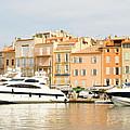 Harbour, St. Tropez, Cote D'azur, France by John Harper