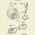 Harley Motorcycle 1934 Patent Art by Prior Art Design