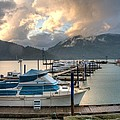 Harrison Lake At Dusk by Lawrence Christopher