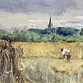 Harvest Field At Stratford Upon Avon by John William Inchbold