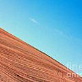 Harvested Crop Lines And Clear Skies by Simon Bratt Photography LRPS