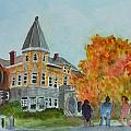 Haskell Free Library In Autumn by Donna Walsh