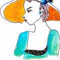 Hat Lady 15 by Bettye  Harwell