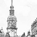 Hausmannsturm In Dresden Germany by Christine Till