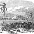 Havana, Cuba, 1851. /na View Of The Harbor And Fort Of Atares. Wood Engraving, English, 1851 by Granger