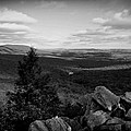Hawk Mountain Sanctuary Bw by David Dehner