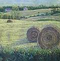 Haybales Durham County by Ruth Greenlaw