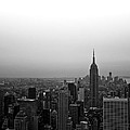 Hazy City Of New York by Heidi Reyher