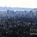 Hazy San Francisco Skyline Viewed Through The Oakland Skyline . 7d11341 by Wingsdomain Art and Photography