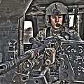 Hdr Image Of A Uh-60 Black Hawk Door by Terry Moore