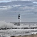 Hdr Light Tower Waves Splashing Beach Beaches Sea Oceanview Photos Pictures Photograph Photo Picture by Pictures HDR