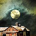 Hdr Moon And Barn by Randall Branham