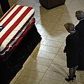 He Casket Of Former President Gerald R by Stocktrek Images