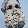 Head Of Zeus At The Acropolis Museum by Richard Nowitz
