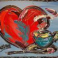 Heart Coffee Cup by Mark Kazav